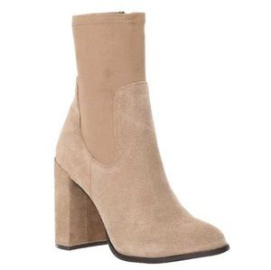 Chinese Laundry Tan Suede Ankle Booties Sz 10